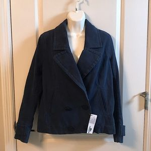 NWT Lacoste Navy Blue Cotton Jacket Sz 38 or M